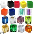 MIYUKI CUBE GLASS BEADS 4mm choice of color 100pc SQUARE LINED FROST OPAQUE