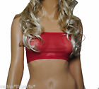 Boob Tube Top RED Net STRAPLESS Bandeau See Thru Lingerie Club Party Dancer B50