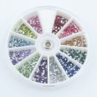 1.5mm 2mm 3mm 4mm 5mm 6mm Round Flat Back Acrylic Gems Mixed Wheel 80RS01