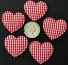 100x 33mm 20mm Pink Red White Hearts LOVE Applique Motif Patch Badge Card Making