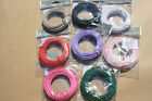 10m PAPER COVERED WIRE 2mm CRAFT FLORISTRY NEW black white green pink red lilac