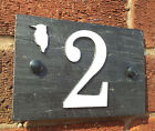House Number Signs Slate Aluminium Protruding Numbers 1 to 50 Spanish Slate Bird