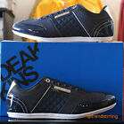 Mens Deakins Delta Casual Patent and Fabric Mix Designer Trainers in Blue 6-11