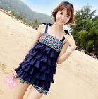 Women's Swimwear Lace-up One-piece Slimming Swimsuit Sweet Layered Bathing suit
