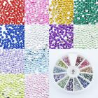 1.5mm 2mm 3mm 4mm 5mm 6mm Round Flat Back Acrylic Gems Mixed Wheel 80RS01A