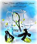 Tennis Pitcher Racquet Glass Margarita Entertaining Bar Party Gift Unique Sporty