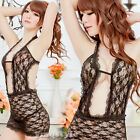 Hot Women Rose Pattern Lace Sexy Lingerie Tempt Teddies Babydoll Pyjamas Costume