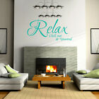 RELAX CHILL OUT & UNWIND Bedroom Lounge Livingroom Vinyl Wall Art Sticker Decal