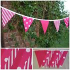 BUNTING Pink - Spot, Stripe & Plain - 3m, 5m or 10m - WEDDING BIRTHDAY