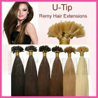 Easy Pre Bonded Keratin Glue Nail U Shape 100% Remy Human Hair Extensions Soft