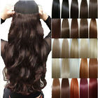 UK Seller Premium Clip In Hair Extensions Full Head Weft Top human preference