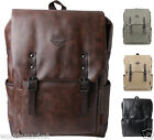 New Backpack Laptop Sleeve College Briefcase Side Pockets Fuax Leather Rucksack