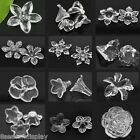 Acrylic Bead End Caps Findings Flower Transparent M1060