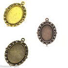 "10PCs  Frame Cameo Setting Pendants 39mmx29mm(1 4/8""x1 1/8"") M1438"