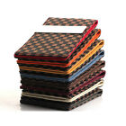 Brown Checker Pattern Money Clip Wallet Card Holder - Laser Engraving FREE -