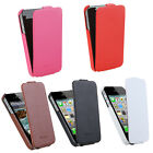 Luxury Fashion Durable Flip Genuine Leather Slim Case Cover for iPhone 4 4S
