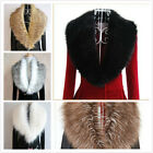 Hot Sale~Gift Faux Fur Shrug Scarf Collar Wrap Raccoon Black  White Colour