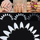 500pcs  Point Shape Acrylic False Nail Art Tips UV Gel Makeup 10 Sizes