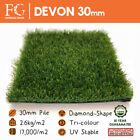 30mm Devon Top Quality Artificial Grass All Green No Brown - Free Delivery!
