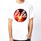 Life Circle-Sunset floral dope hype Hipster galaxy island beach surf men t-shirt