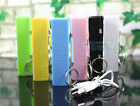 2600mAh Power Bank Backup External Battery Pack Portable USB Charger Cable