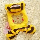 Pet Dog Puppy Winter apparel clothing warm Yellow Bear tiger Coat trousers hat