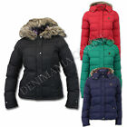 LADIES JACKET BRAVE SOUL WOMENS COAT PARKA HOODED QUILTED PADDED WINTER FAUX FUR