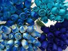 100 TURQUOISE DUCK EGG BLUE NAVY IVORY MIX BATHROOM FLOWERS GIFT STOCK CLEARANCE