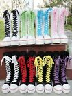 Gothic PUNK Women Platform Boot Girls Shoes Sneaker Knee High Zip Laces Up NEW