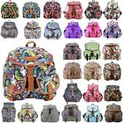 RETRO OWL BUTTERFLY BIRDS CARTOON COMIC BACKPACK RUCKSACK SCHOOL SHOULDER BAG
