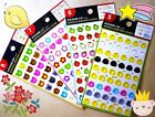Cute Taiwan Binder Ring Reinforcement Label Stickers 54 Each Binder Hole New!!