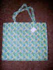"LARGE  REUSEABLE SHOPPING TOTE BOOK BAG FLOWER PRINT NEW 17"" X 15"" CHOOSE DESIGN"