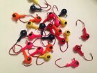 25 Pack 1/4oz Round Head Floating Jigs Matzuo Sickle #1 Red Hooks Free Shipping
