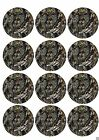 Baby Shower camo Cake or Cupcake toppers picture photo sheet sugar camouflage