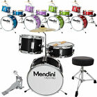 Mendini 13 3 Pieces Junior Kids Child Drum Set Kit Black Blue Green Purple Red