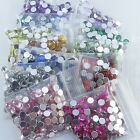 12 Colours 4mm Flat Back Acrylic Rhinestones Gems, Cards, Wedding Invitations