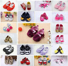 Fashion Baby Girls Toddlers Soft Sole Shoes slip-on size 0-18 Months