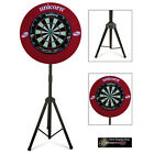 The Darts Caddy, Dartboard Stand with Unicorn Eclipse Pro & Striker Surround