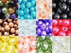 round acrylic pearl beads in various colours 8mm, 10mm/100pcs, 16mm/15pcs