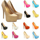 Womens Party Platform Pumps Killer High Heels Stiletto Court Shoes Uk2-9