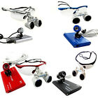 Dental Loupes Surgical Binocular 3.5X420mm + LED Head Lamp Light 4colors Optinal