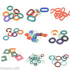 Jelly Color Chunky Chain Plastic Link Connectors Pendants Necklace DIY M2025