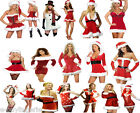 NEW SEXY MISS SANTA DRESS RED Velvet Christmas Party Fancydress Outfit Costume
