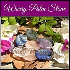 ~WORRY PALM STONE~Gemstone Crystal~Labradorite~Amethyst~Clear Rose Quartz~Lapis