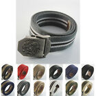 Dragon Unisex Mens Stainless Steel Alloy Buckle Webbing Waist Canvas Thick Belt