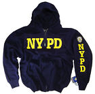 NYPD Shirt Hoodie Sweatshirt Licensed By The NYPD With Zipper