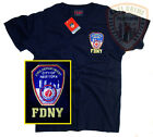 FDNY Shirt T-Shirt Embroidered Logo