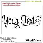CUSTOM TEXT OR NAME VINYL WALL DECAL STICKER ART Personalized Different Sizes