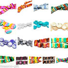 1 Strand Shell Loose Beads Striped Multicolor M1272