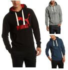 New Men's PUMA Heritage Logo Hoodie Sweatshirt Jumper Black Blue Grey Hooded Top